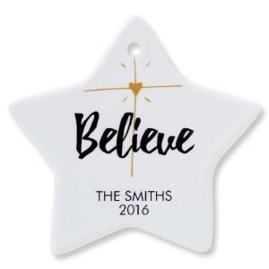 Customized Believe Star Ornament