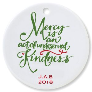 9635e55d7f7 Mercy Round Christmas Personalized Ornaments