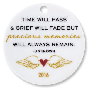 Time Will Pass Round Ornament