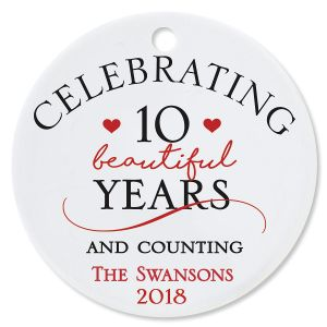 Celebrating Round Anniversary Christmas Personalized Ornaments