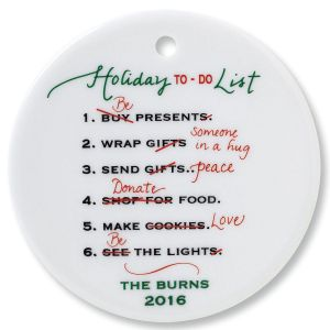 Holiday To Do Round Ornament
