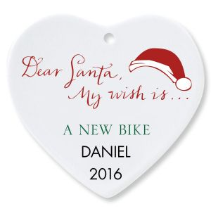 Dear Santa Heart Ornament