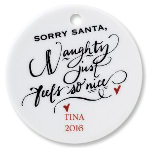 Sorry Santa Round Ornament