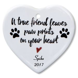 A True Friend Heart Personalized Christmas Ornament