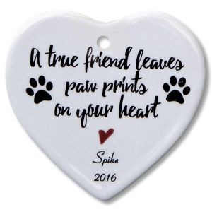 A True Friend Heart Ornament