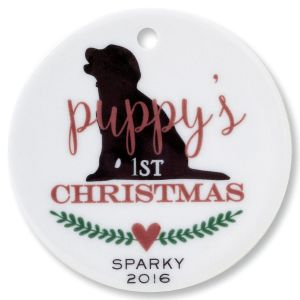Puppy's 1st Round Ornament