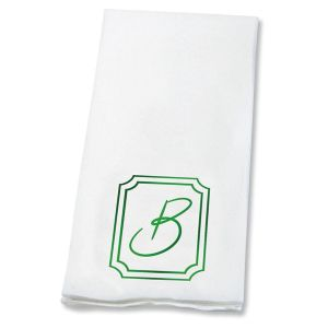 Frame Initial Disposable Hand Towels