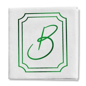 Frame Initial Cocktail Napkin