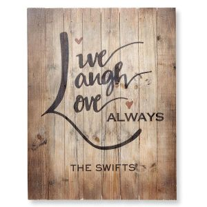Live, Laugh, Love Plaque