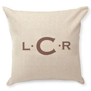 Initials with Dots Personalized Pillow by Designer Jillian Yee-Pham