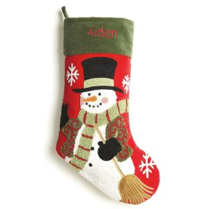 Snowman Personalized Christmas Stocking