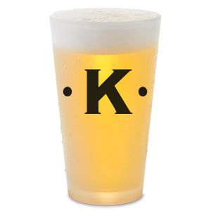 Dot Initials Pint Glass