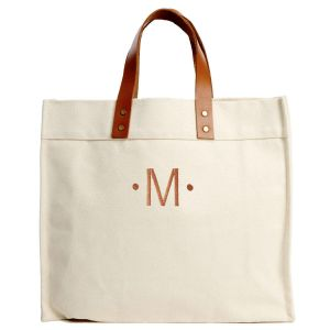 Signature Monogrammed Canvas Tote