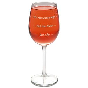 Just a Sip Stemmed Wine Glass