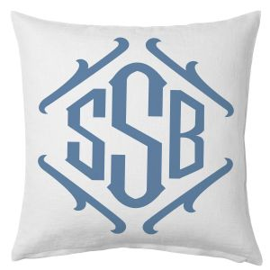 Framed Monogrammed Beach Pillow