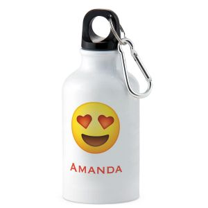 Heart Eyes Emoji Personalized Water Bottle