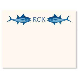 Fish & Monogram Correspondence Cards