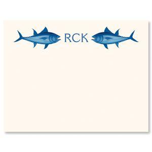 Fish & Monogram Correspondence Cards