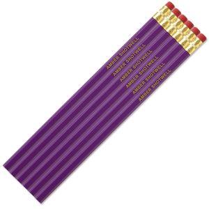 Light Purple Personalized Pencils