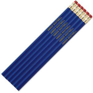 Blue Personalized Pencils