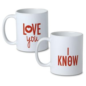 I Love You & I Know Mugs