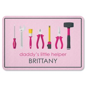 Daddy's Little Girl Helper Garage Personalized Doormat