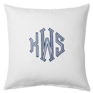 Monogrammed Beach Pillow