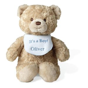 Bear with It's A Boy Bib
