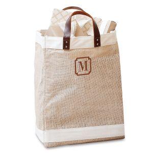 Monogrammed Jute Market Bag