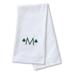 Shamrock Personalized Dish Towel by Designer Jillian Yee-Pham