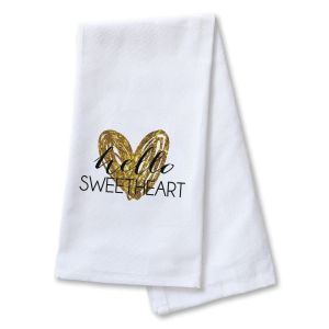 Hello Sweetheart Dish Towel