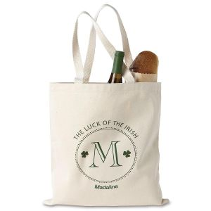 Luck of the Irish Personalized Canvas Tote