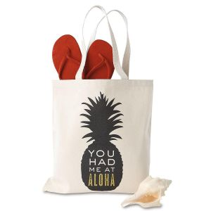 You Had Me At Aloha Canvas Tote by Designer Jillian Yee-Pham