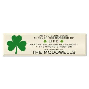 Irish Saying Personalized Plaque