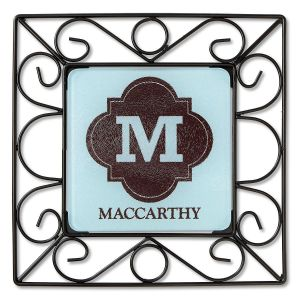 Personalized Brown Wire Trivet