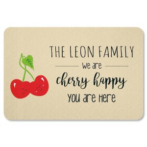 Cherry Happy Personalized Doormat