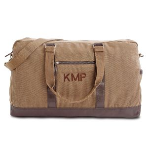 Monogrammed Large Canvas Durable Duffel