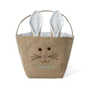 Jute Bunny Personalized Easter Basket