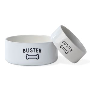 Personalized Bone Pet Bowls