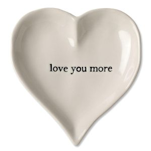 I Love You More Heart Trinket Tray