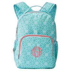 Mint Damask Backpack