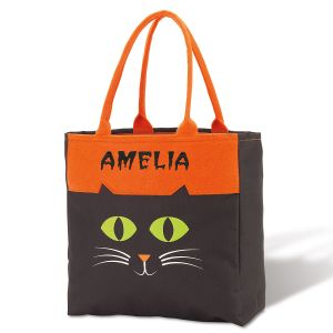 Cat Personalized Halloween Character Tote