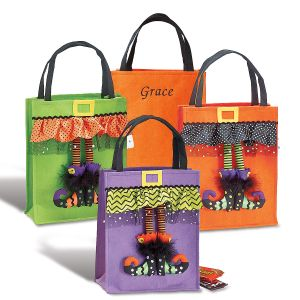 Witch Feet Personalized Halloween Treat Bags