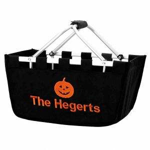 Personalized Pumpkin Mini Market Tote