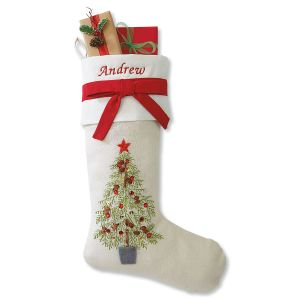 Christmas Tree Personalized Christmas Stocking