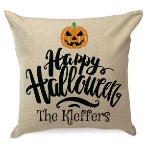 Happy Halloween Personalized Pillow