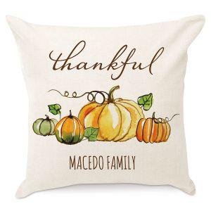 Thankful Personalized Pillow