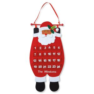 Santa Countdown Personalized Calendar