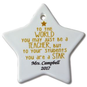 You May Be Just a Teacher Personalized Christmas Ornament