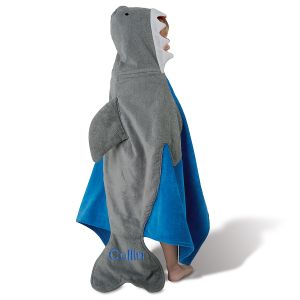 Shark Hooded Personalized Towel by Mud Pie®